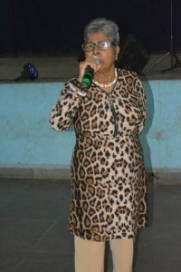 Another regular singer from the senior citizens who sings songs composed for weddings during her childhood