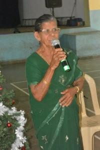 Our regular Sr Citizen singer Maria